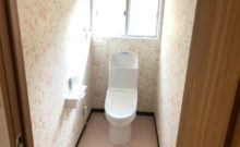 トイレ新品交換。もちろん温水暖房便座。