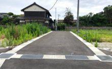 4区画の中央にある位置指定道路(幅員5m)です。