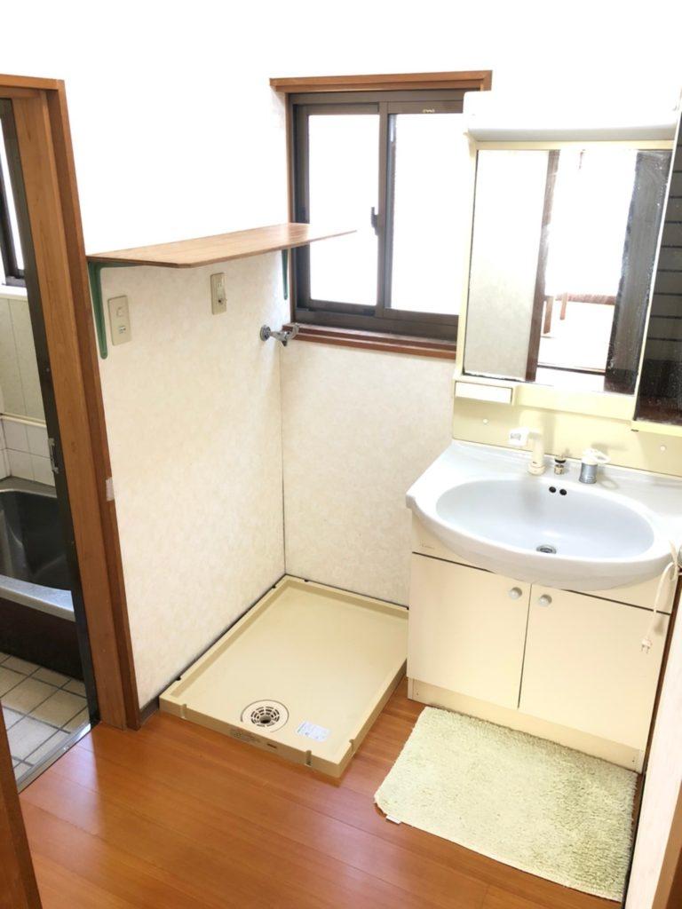 洗面所。洗面台はシャンプードレッサーです。