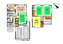 建物面積31坪のお家です♪各部屋にしっかりと収納があります!(間取)